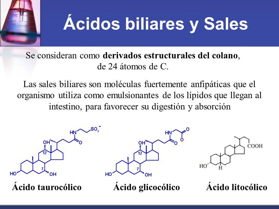 Ácidos biliares y Sales
