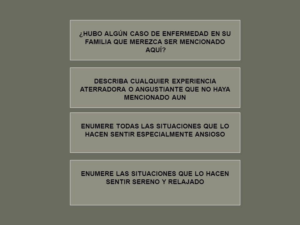 ¿HUBO ALGÚN CASO DE ENFERMEDAD EN SU
