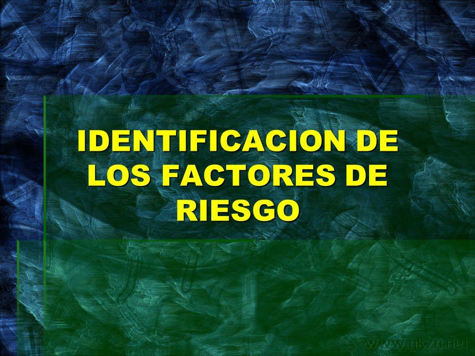 IDENTIFICACION DE LOS FACTORES DE RIESGO