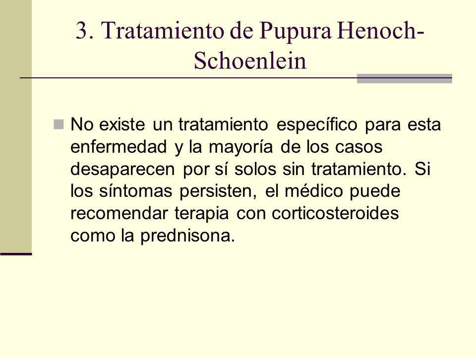 3. Tratamiento de Pupura Henoch-Schoenlein