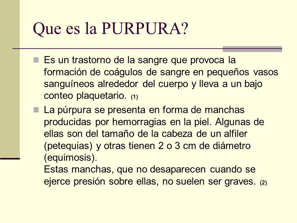 Que es la PURPURA