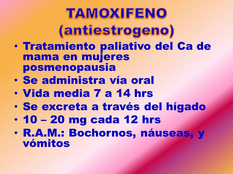 TAMOXIFENO (antiestrogeno)