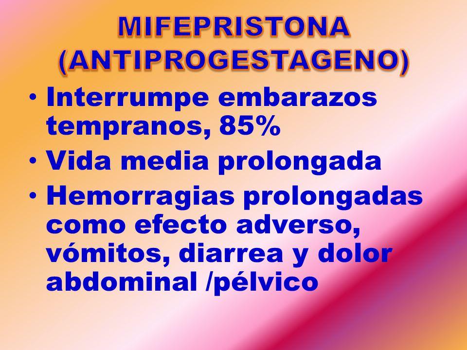 MIFEPRISTONA (ANTIPROGESTAGENO)
