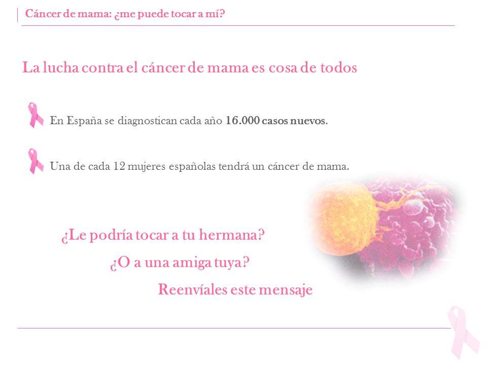 La lucha contra el cáncer de mama es cosa de todos