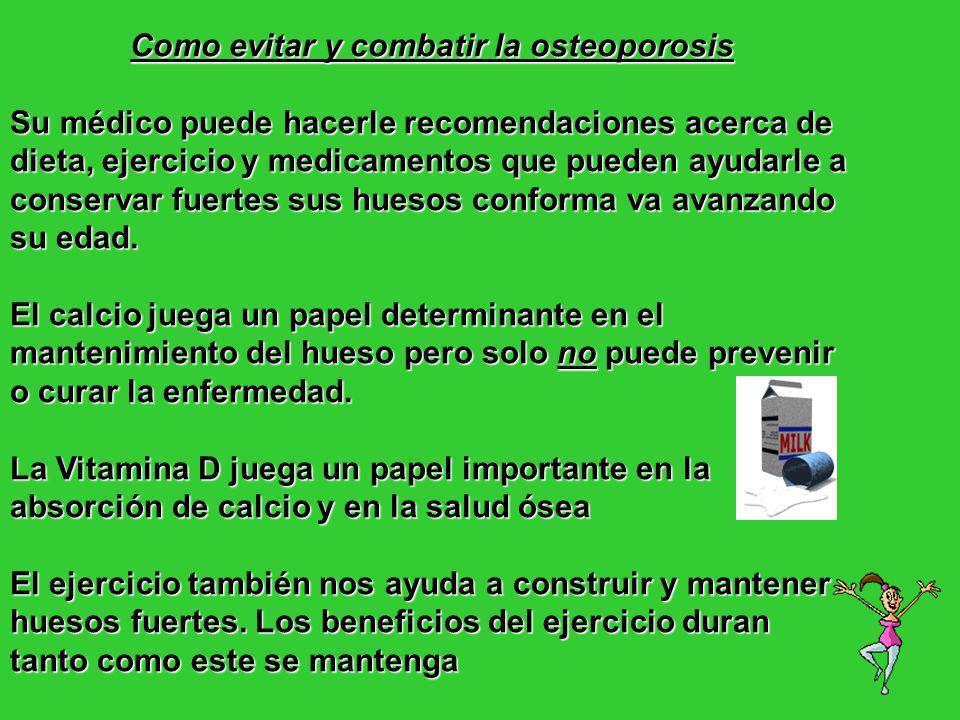 Como evitar y combatir la osteoporosis