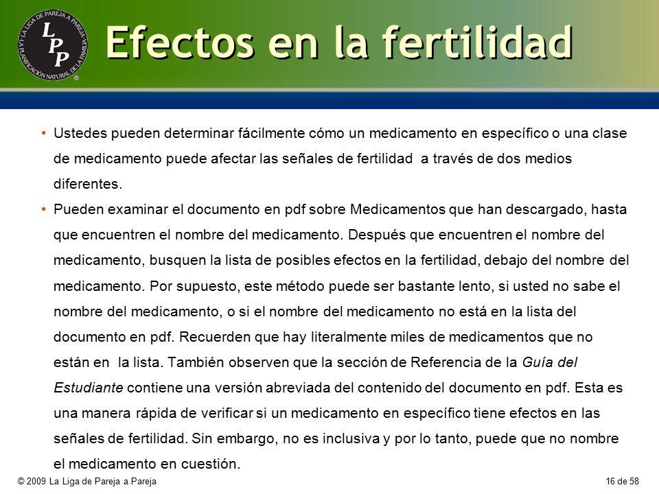 Efectos en la fertilidad