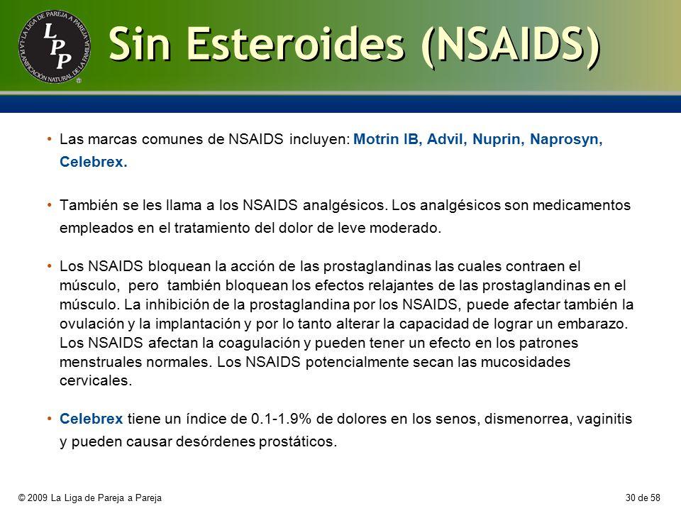 Sin Esteroides (NSAIDS)