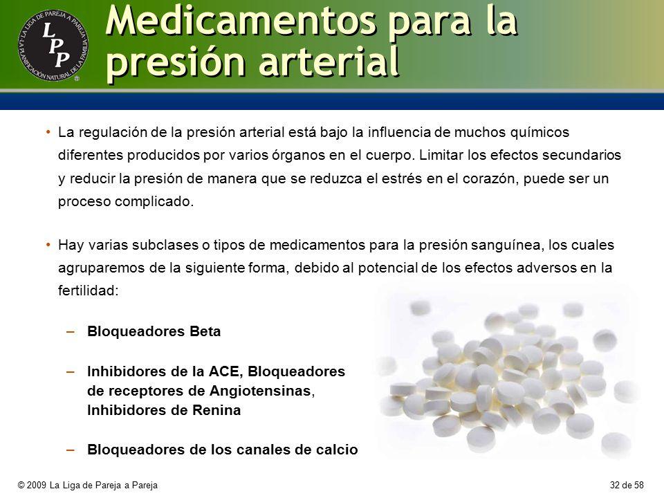 Medicamentos para la presión arterial