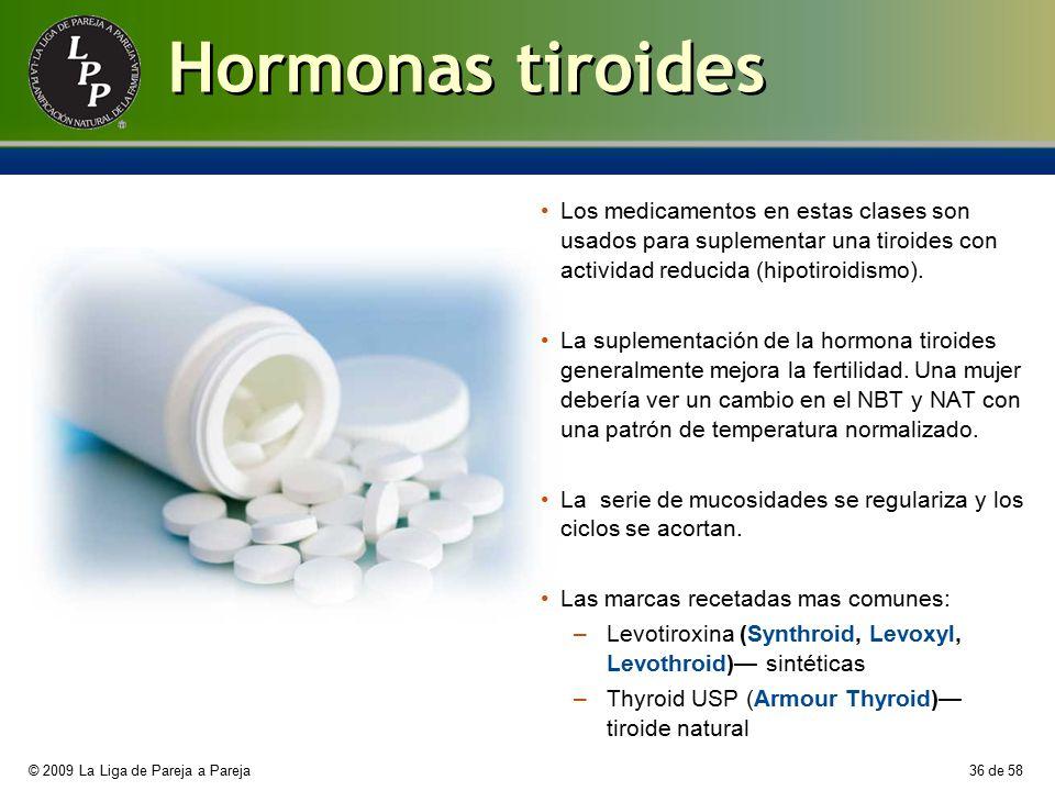 Hormonas tiroides Los medicamentos en estas clases son usados para suplementar una tiroides con actividad reducida (hipotiroidismo).