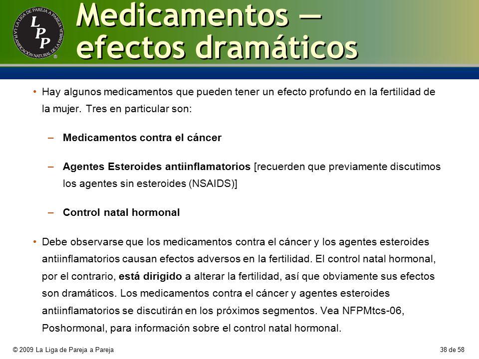 Medicamentos — efectos dramáticos