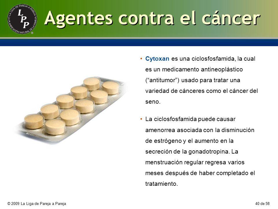 Agentes contra el cáncer