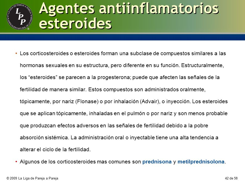 Agentes antiinflamatorios esteroides