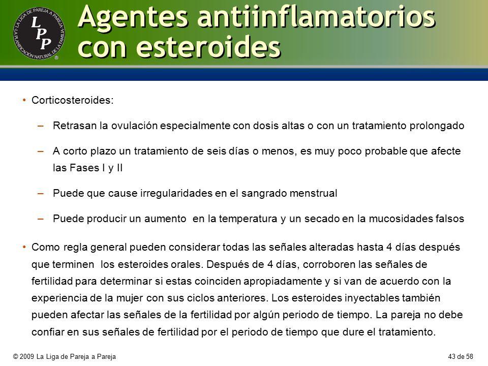 Agentes antiinflamatorios con esteroides