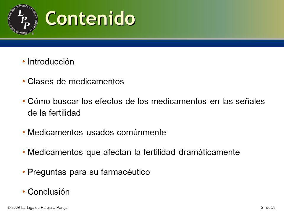 Contenido Introducción Clases de medicamentos