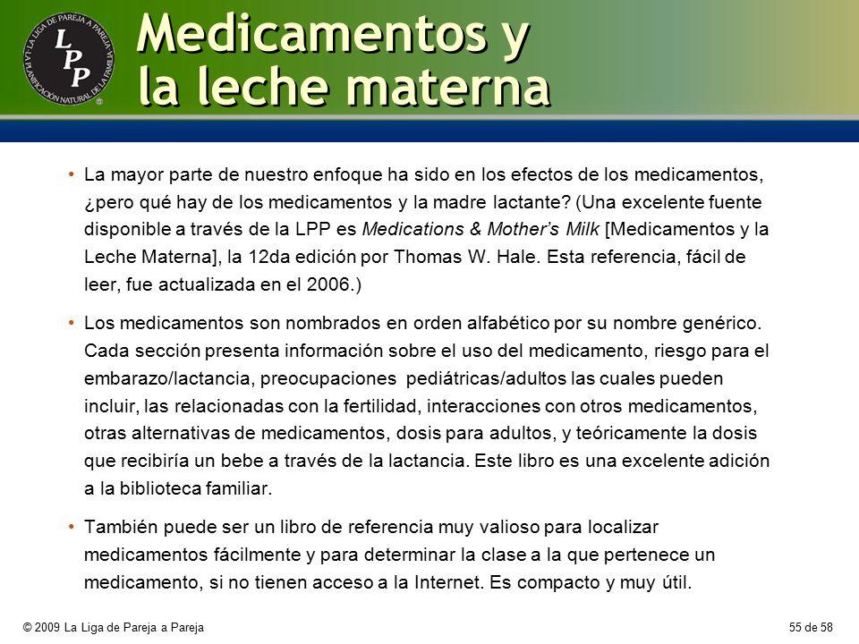 Medicamentos y la leche materna