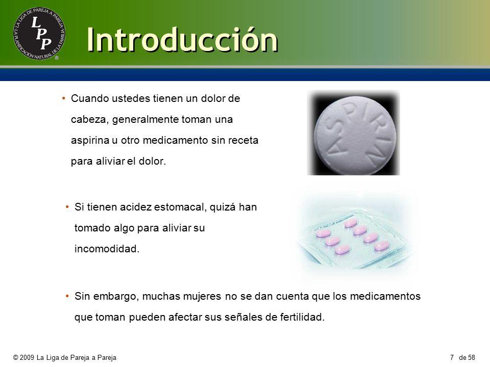 Introducción Cuando ustedes tienen un dolor de cabeza, generalmente toman una aspirina u otro medicamento sin receta para aliviar el dolor.