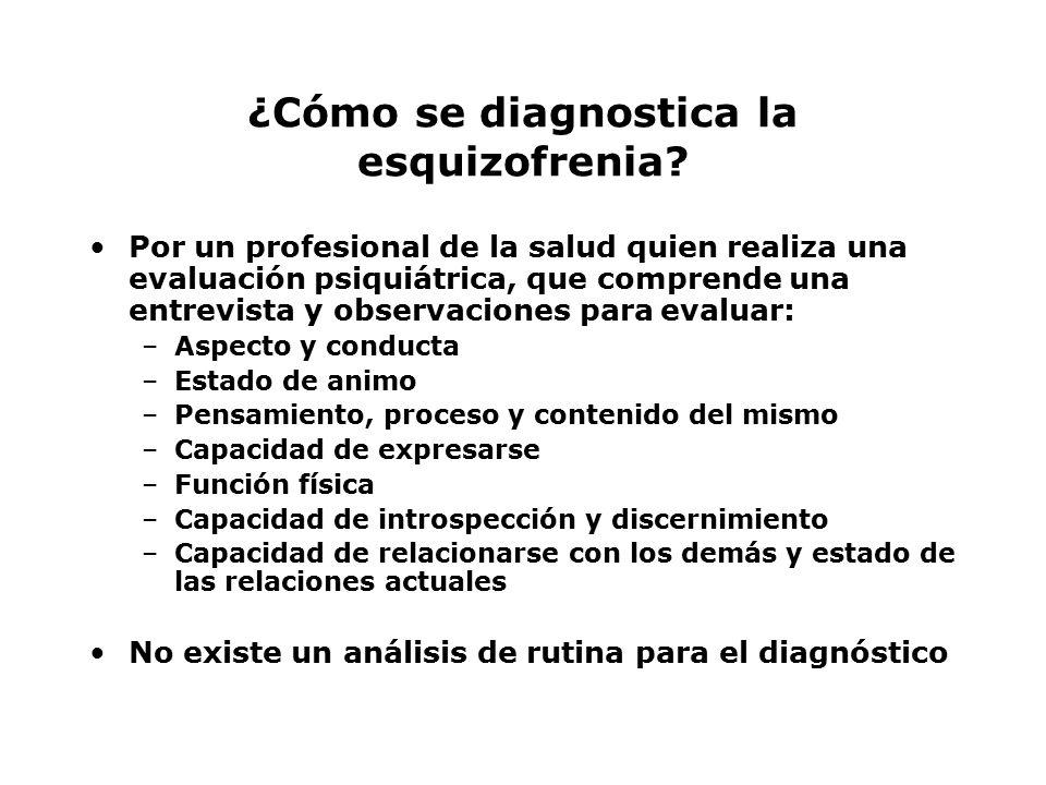 ¿Cómo se diagnostica la esquizofrenia