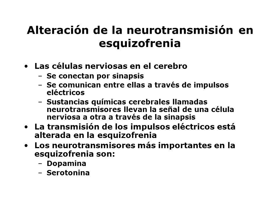 Alteración de la neurotransmisión en esquizofrenia