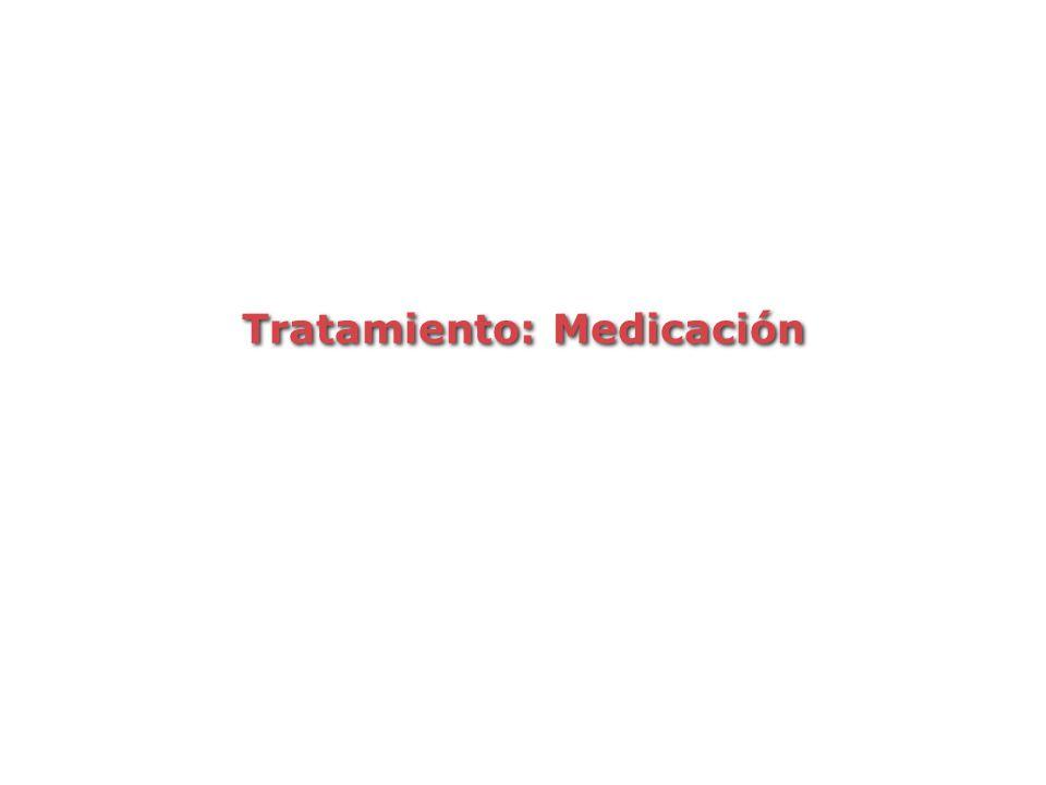 Tratamiento: Medicación