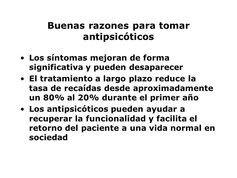 Buenas razones para tomar antipsicóticos