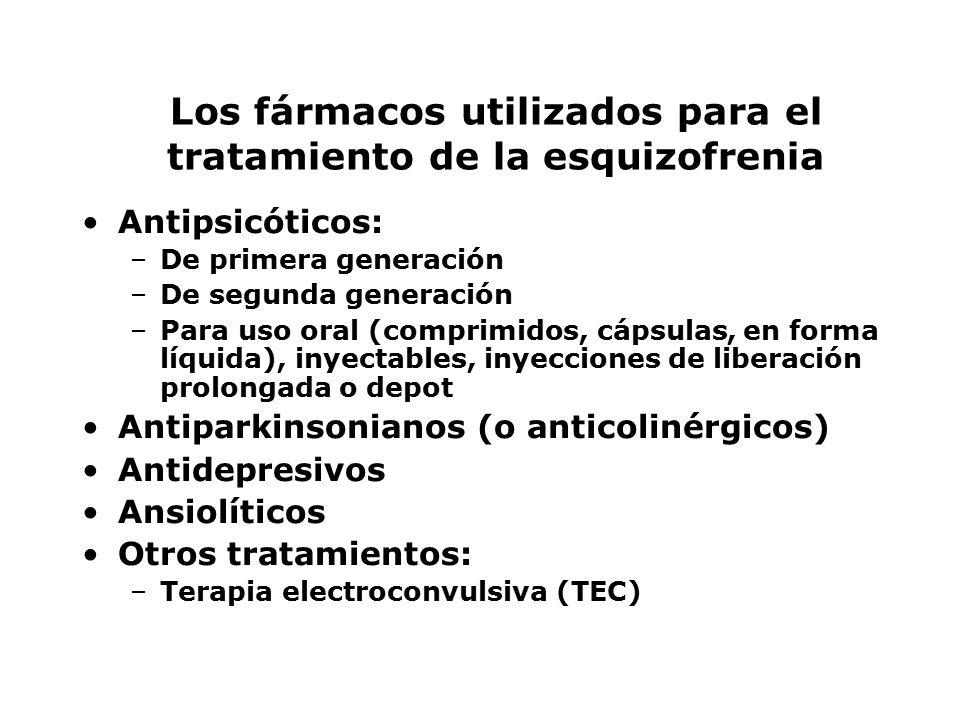 Los fármacos utilizados para el tratamiento de la esquizofrenia