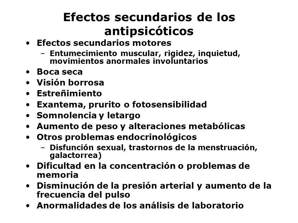 Efectos secundarios de los antipsicóticos