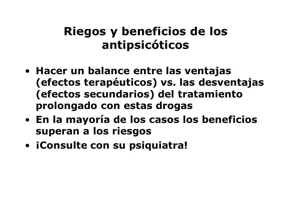 Riegos y beneficios de los antipsicóticos