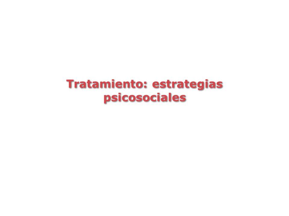 Tratamiento: estrategias psicosociales