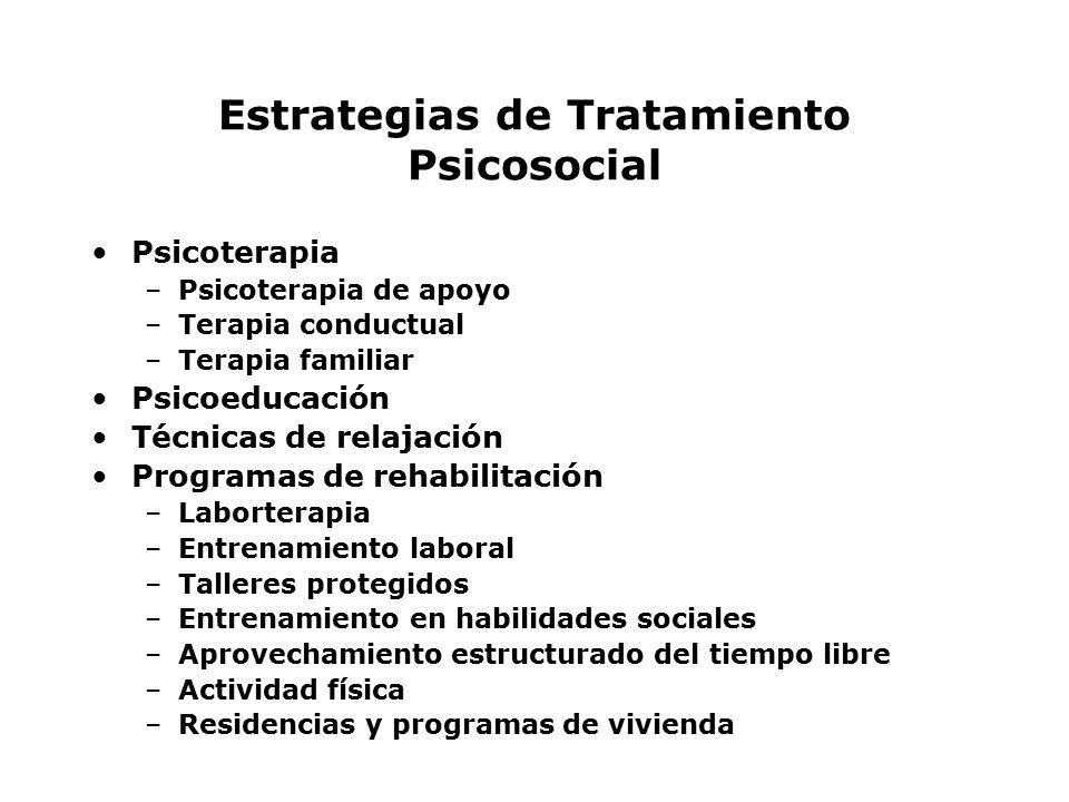 Estrategias de Tratamiento Psicosocial