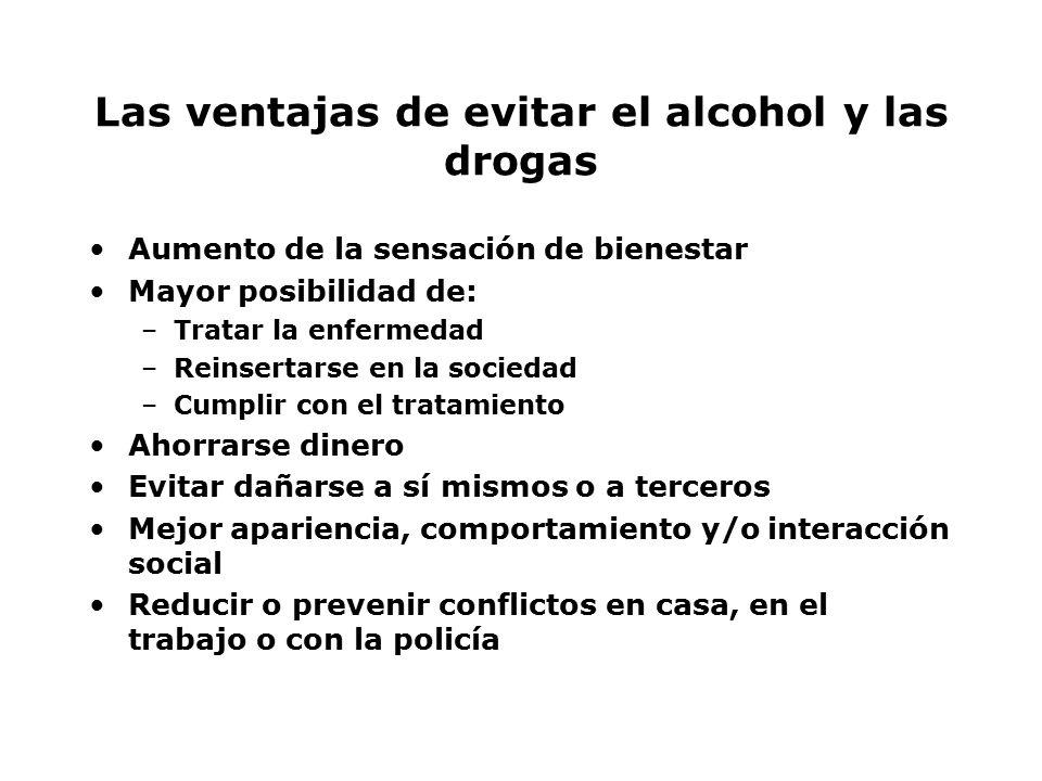 Las ventajas de evitar el alcohol y las drogas