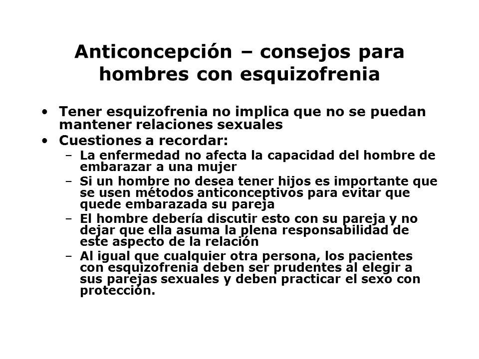 Anticoncepción – consejos para hombres con esquizofrenia