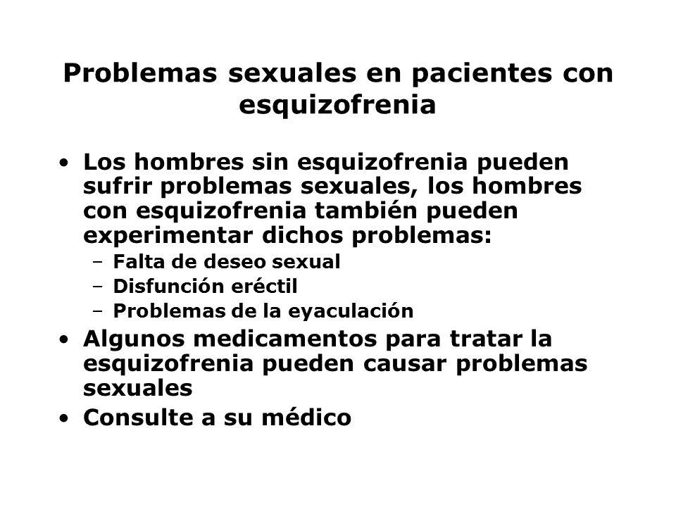 Problemas sexuales en pacientes con esquizofrenia
