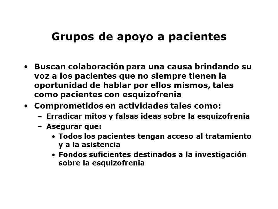Grupos de apoyo a pacientes
