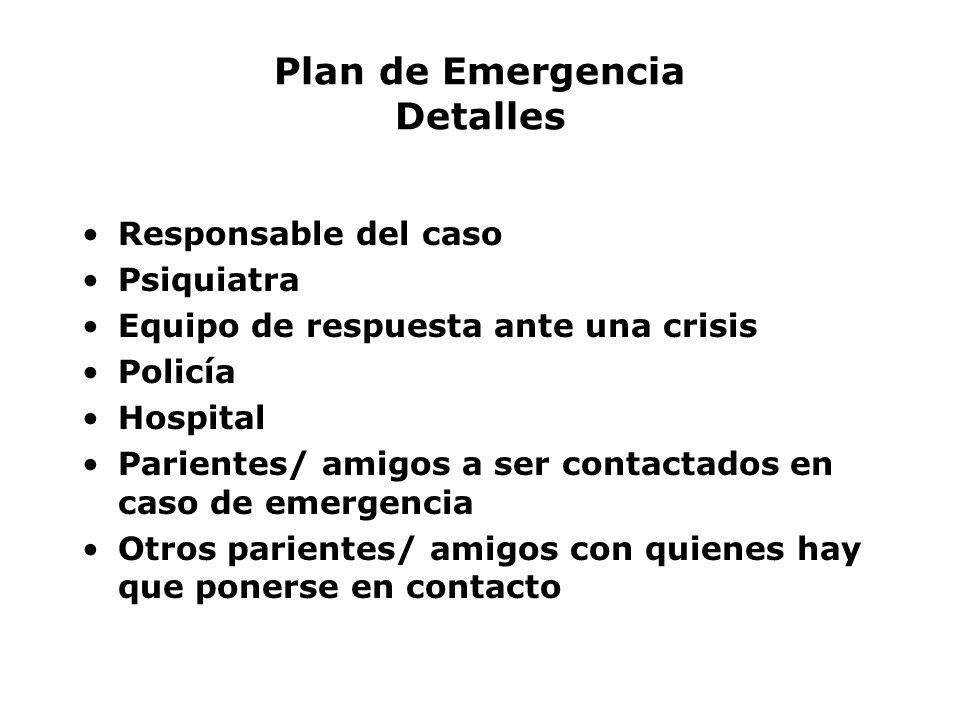 Plan de Emergencia Detalles