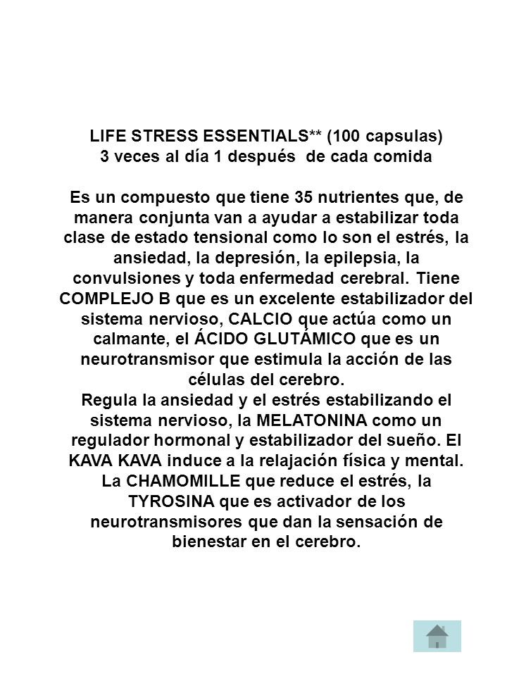 LIFE STRESS ESSENTIALS** (100 capsulas)