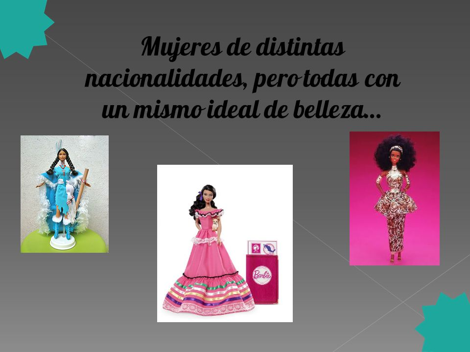 Mujeres de distintas nacionalidades, pero todas con un mismo ideal de belleza…