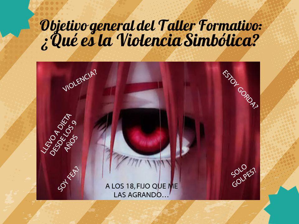 Objetivo general del Taller Formativo: ¿Qué es la Violencia Simbólica