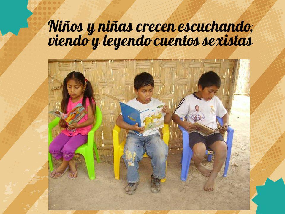 Niños y niñas crecen escuchando, viendo y leyendo cuentos sexistas