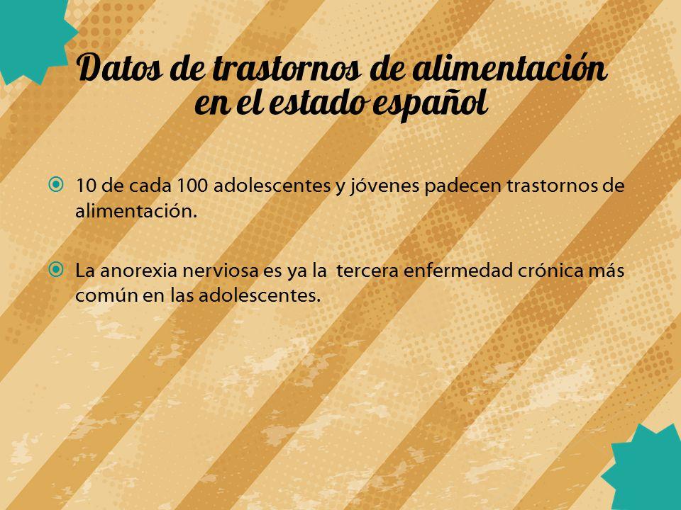 Datos de trastornos de alimentación en el estado español