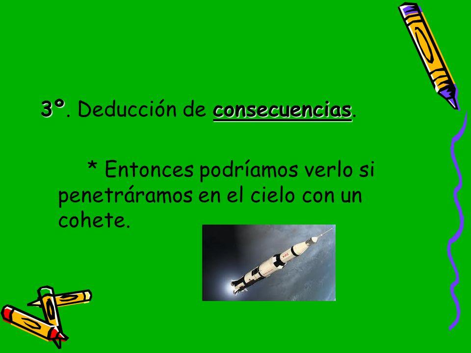 3º. Deducción de consecuencias.