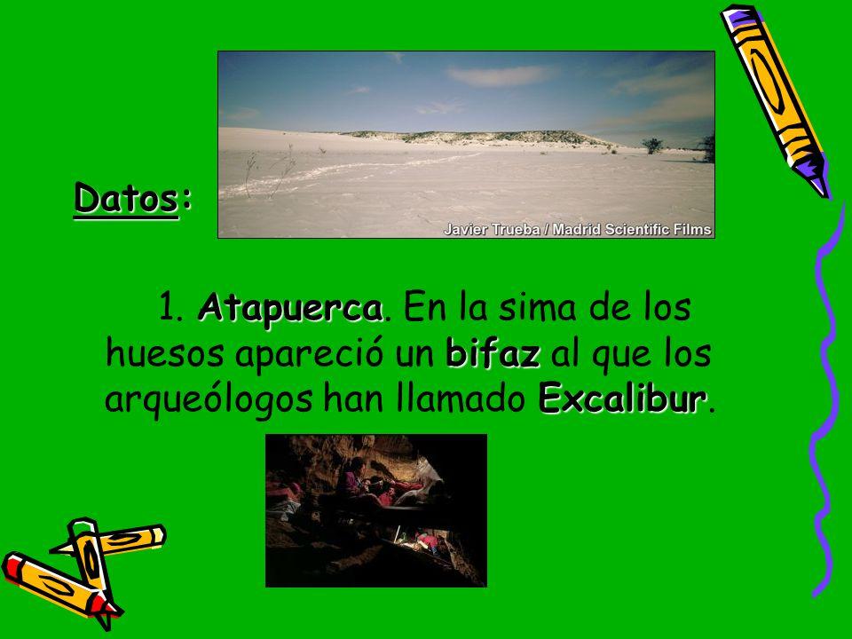 Datos: 1. Atapuerca.