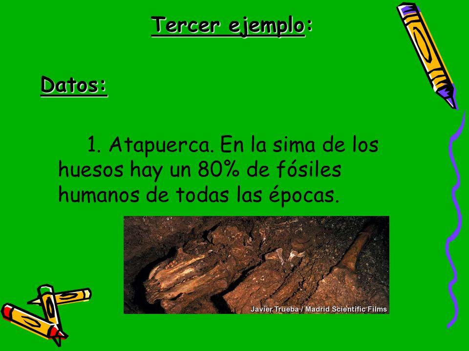 Tercer ejemplo: Datos: 1. Atapuerca.