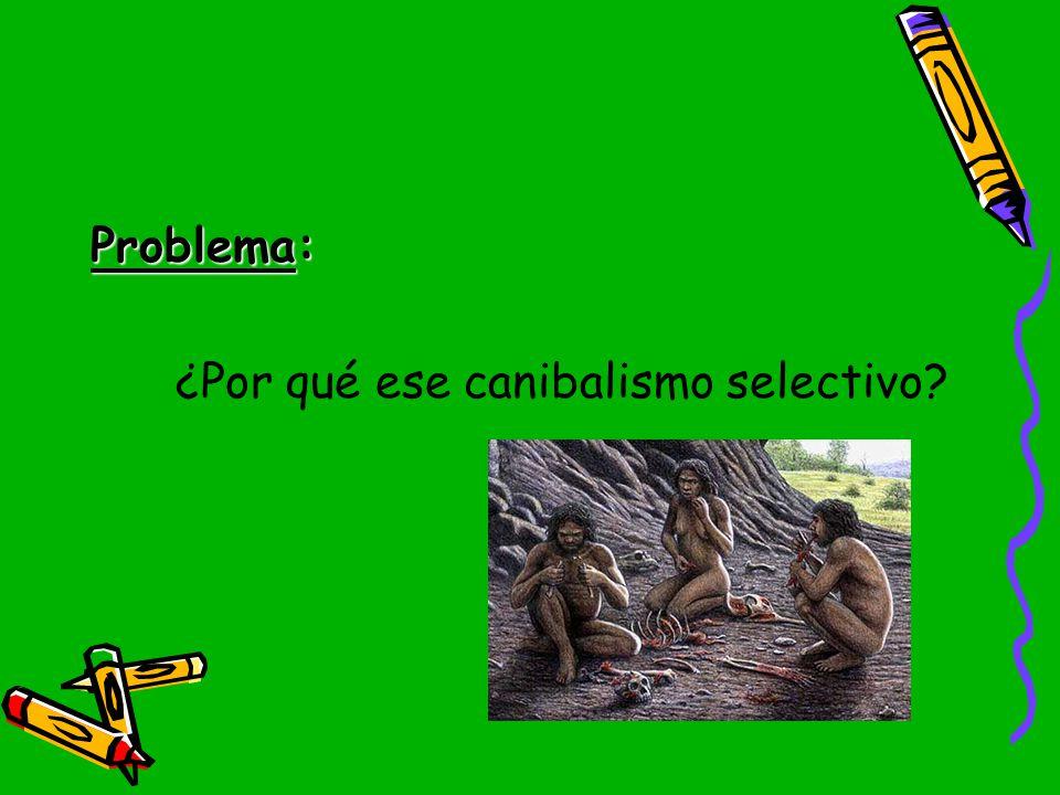 Problema: ¿Por qué ese canibalismo selectivo