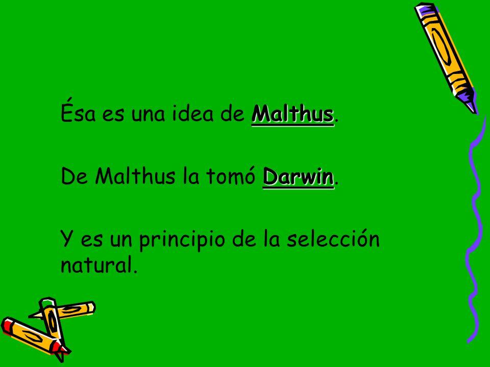Ésa es una idea de Malthus.