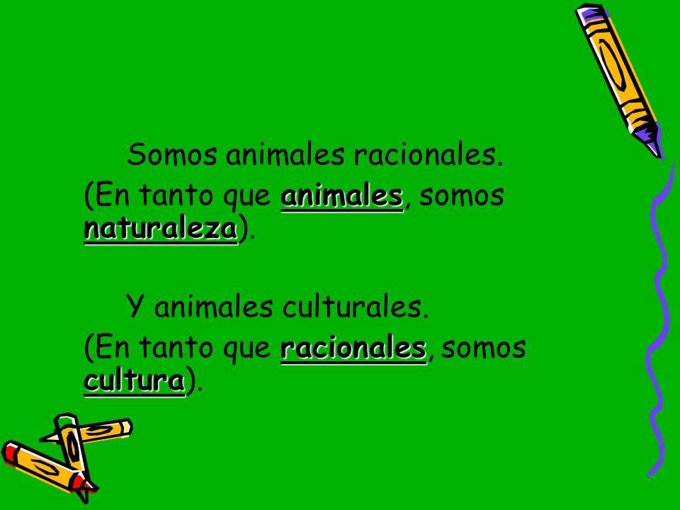 Somos animales racionales.