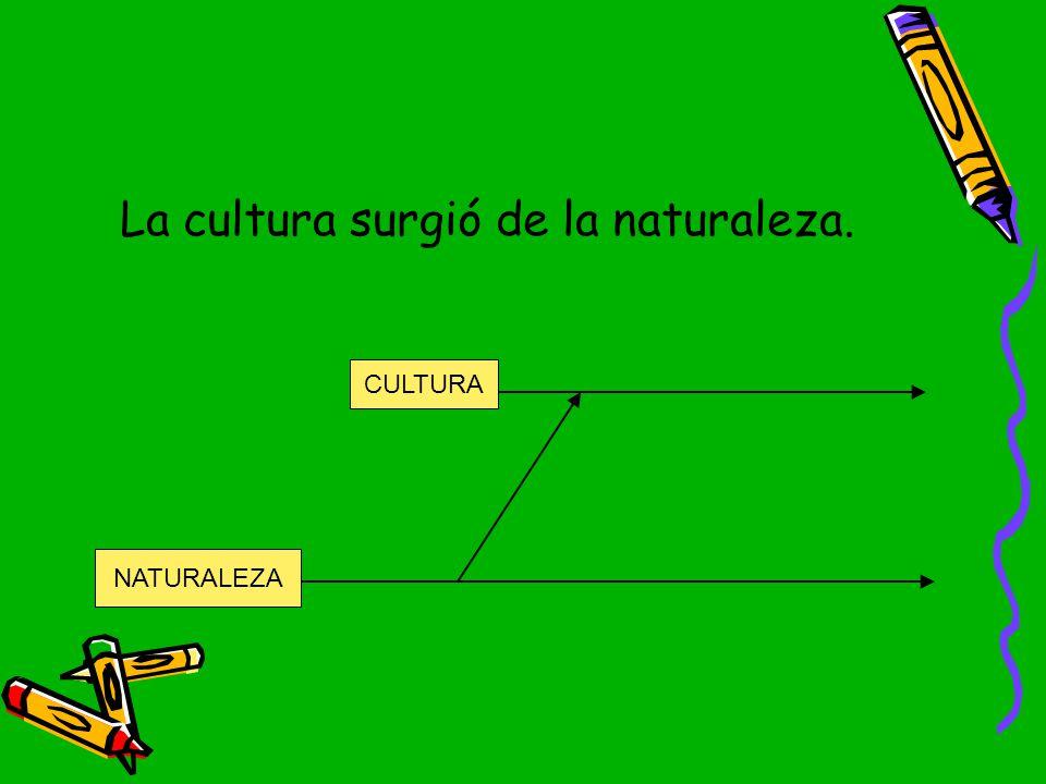 La cultura surgió de la naturaleza.