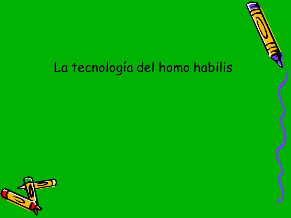 La tecnología del homo habilis