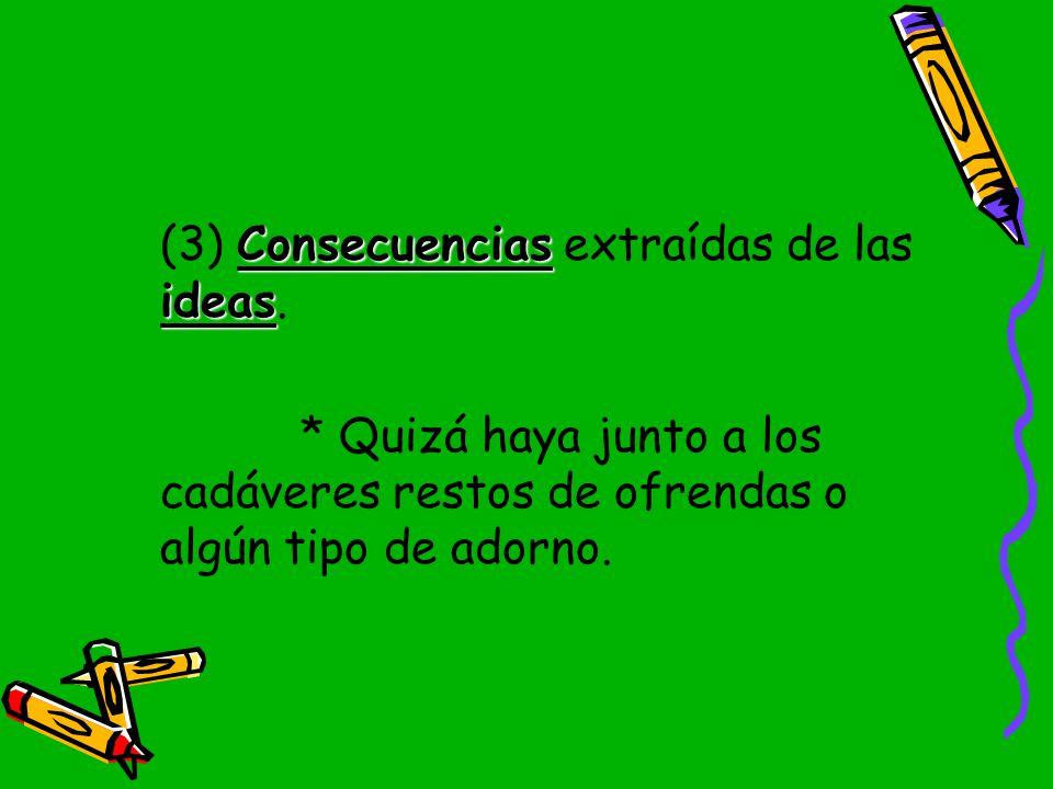 (3) Consecuencias extraídas de las ideas.