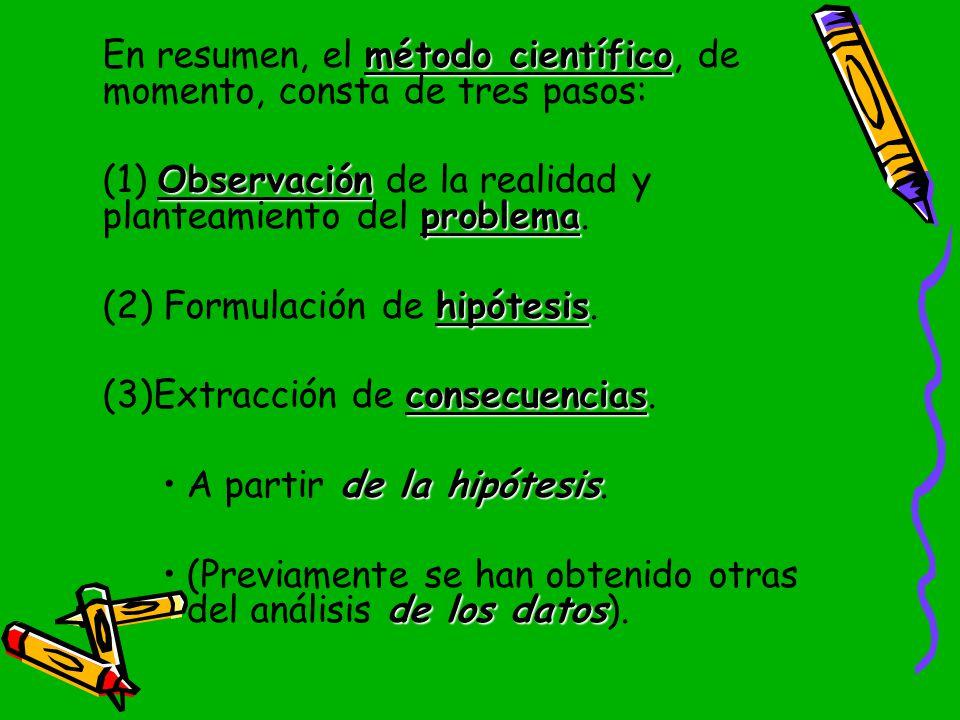 (1) Observación de la realidad y planteamiento del problema.