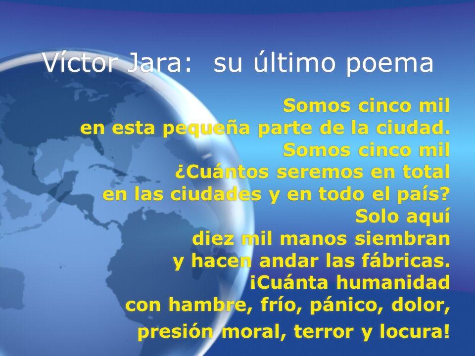 Víctor Jara: su último poema